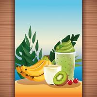 Fruchtsaft der tropischen Erfrischung des Sommers