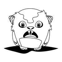 rolig monster komisk karaktär avatar vektor