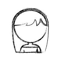 Cartoon-Frau-Symbol vektor