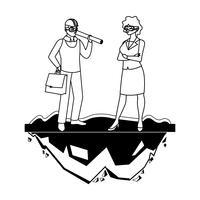 männlicher Erbauererbauer mit Fraueningenieur
