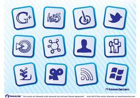 Kostenlose Social Media Icons vektor