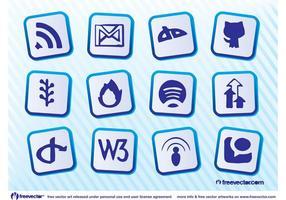 Social Website Vektoren