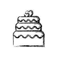 süße Kuchen-Symbol vektor