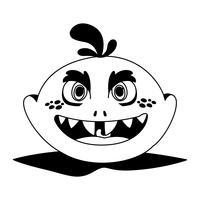 rolig monster komisk karaktär avatar