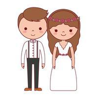 bröllop par ikon vektor