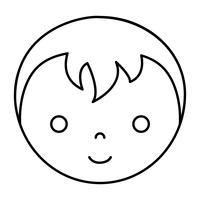Cartoon junge Gesichtssymbol