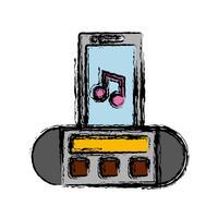 bärbar ikon för ljudhögtalare vektor