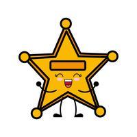 Sheriff-Stern-Symbol vektor