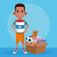 Kinderspenden-Nächstenliebe-Cartoon