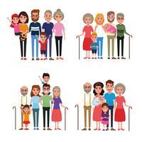 Familie mit Kinderkarikatur