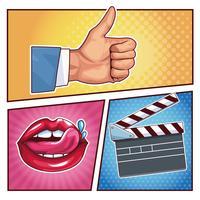 pop art-tecknade filmer
