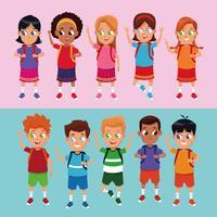 Cartoons für Schüler und Schülerinnen vektor