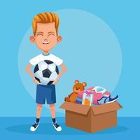 Kid donation välgörenhet tecknad