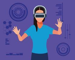 Technologie der virtuellen Realität
