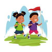 Kinder auf Schulexkursion