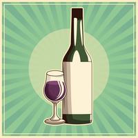 Weinlesegetränkplakat
