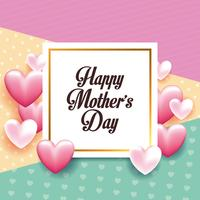 Glückliche Muttertageskarte vektor