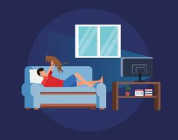 Aktivitäten und Freizeit zu Hause