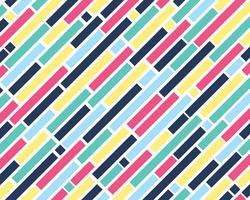 Muster der bunten quadratischen Form und geometrisch auf weißem Hintergrund - Vector Illustration