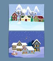 Illustrationer för vinterlovslandskap.