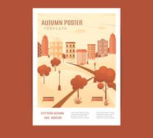 mitten av hösten festival affisch. vektor