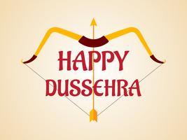 Lycklig Dussehra-festival av indiens garnering med pilbåge och pilbakgrund vektor