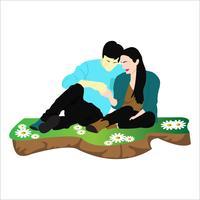 Schönes süßes Paar