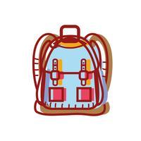 Rucksack Objekt mit Taschen und Verschlüssen Design