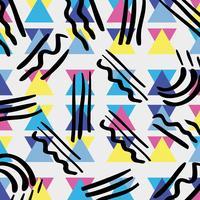 memphis stil med färg geometrisk design