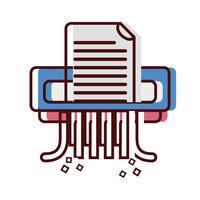Büro Aktenvernichter Maschinendesign vektor