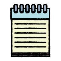 anteckningsbok papper objekt design att skriva vektor