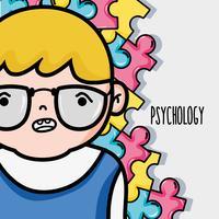 Psychologische Behandlung zur Analyse von psychischen Problemen vektor