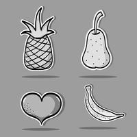 Set tropische Flecken Obst Design