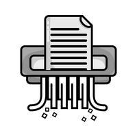 gråskala kontorspapper shredder maskin design