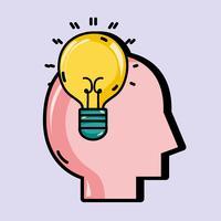 psykologi behandling för att analysera mentala problem vektor
