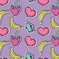 läckra tropiska lappar fruktdesign vektor