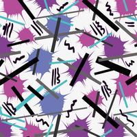 Memphis Style mit geometrischem Farbdesign