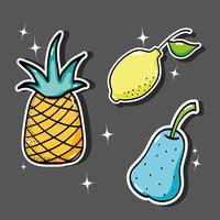 köstliches tropisches Fleckenfruchtdesign vektor