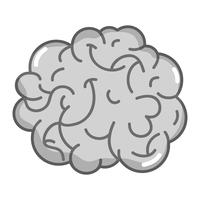 gråskala mänsklig hjärnanatomi till kreativa och intellekt