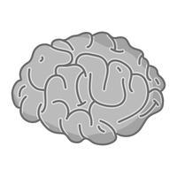 Anatomie des menschlichen Gehirns in Graustufen, kreativ und intellektuell