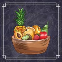 handritade frukter