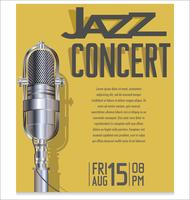 Jazzfestivalvektorillustration vektor