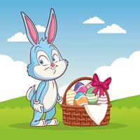Frohe Ostern Cartoon vektor