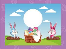 Frohe Ostern Cartoons