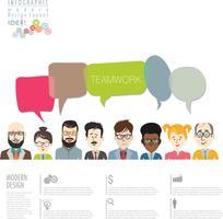 Modernes Design des Brainstorming-Geschäftskonzeptes infographic