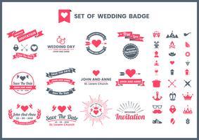 Hochzeits-Retro- Vektor für Fahne