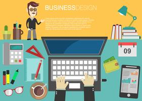 Brainstorming affärsidé modern design infographic