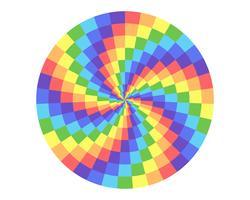 regnbågens färg cirkel