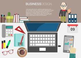 affärsidé modern design infographic vektor