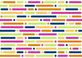 Seamless mönster av färgglad cirkel och geometrisk rund form på vit bakgrund - vektorillustration
